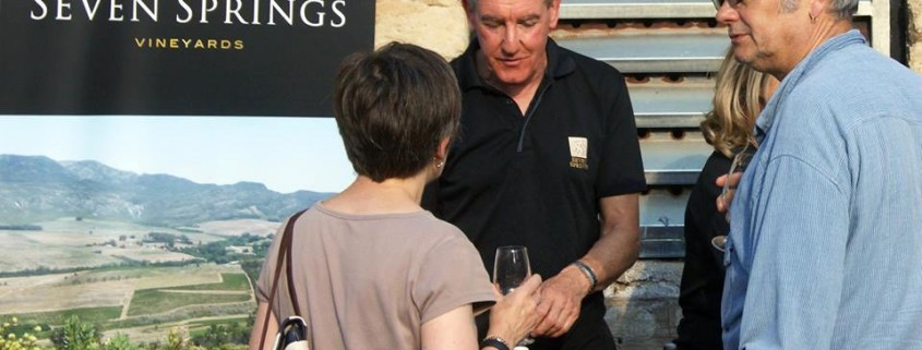 Tim pouring our wines